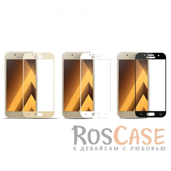 Защитное стекло с цветной рамкой на весь экран с олеофобным покрытием анти-отпечатки для Samsung A720 Galaxy A7 (2017)Описание:компания&amp;nbsp;Epik;совместимо с Samsung A720 Galaxy A7 (2017);материал: закаленное стекло;тип: защитное стекло на экран.Особенности:полностью закрывает дисплей;толщина - 0,3 мм;цветная рамка;прочность 9H;покрытие анти-отпечатки;защита от ударов и царапин.<br><br>Тип: Защитное стекло<br>Бренд: Epik