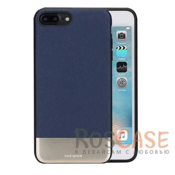 Кожаная накладка с металлической вставкой ROCK Elite Series для Apple iPhone 7 plus (5.5) (Синий / Blue)Описание:производитель  - &amp;nbsp;Rock;разработан для Apple iPhone 7 plus (5.5);материал  -  искусственная кожа, металл, поликарбонат;тип  -  накладка.&amp;nbsp;Особенности:металлическая вставка;в наличии все функциональные вырезы;не скользит в руках;амортизирует удары;защищает от механических повреждений.<br><br>Тип: Чехол<br>Бренд: ROCK<br>Материал: Искусственная кожа