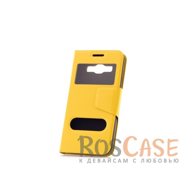 Чехол (книжка) с TPU креплением для Samsung A300H / A300F Galaxy A3 (Желтый)Описание:компания разработчик: Epik;совместимость с устройством модели: Samsung A300H / A300F Galaxy A3;материал изделия: искусственная кожа и термополиуретан;конфигурация: обложка в виде книжки.Особенности:всесторонняя защита смартфона;высокий класс износоустойчивости;функция подставки;имеет два окошка;имеет все функциональные отверстия.<br><br>Тип: Чехол<br>Бренд: Epik<br>Материал: Искусственная кожа