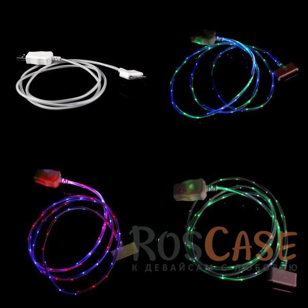 фото дата кабель (светящийся) Navsailor (C-L602) для Apple iPhone 4/4S