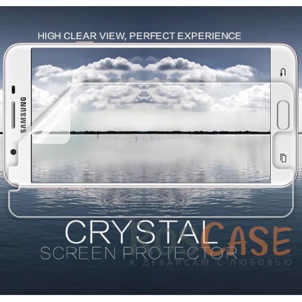 Прозрачная глянцевая защитная пленка Nillkin на экран с гладким пылеотталкивающим покрытием для Samsung G570F Galaxy J5 Prime (2016)Описание:бренд&amp;nbsp;Nillkin;совместимость - Samsung G570F Galaxy J5 Prime (2016);материал: полимер;тип: прозрачная пленка;ультратонкая;защита от царапин и потертостей;фильтрует УФ-излучение;размер пленки - 135.6*62.9&amp;nbsp;мм.<br><br>Тип: Защитная пленка<br>Бренд: Nillkin
