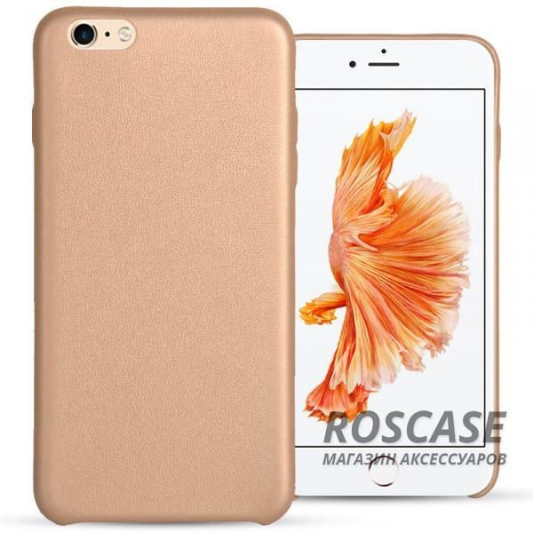 Ультратонкая кожаная PU накладка для Apple iPhone 6/6s (4.7) (Золотой)Описание:компания&amp;nbsp;Epik;разработан для&amp;nbsp;Apple iPhone 6/6s (4.7);материал: искусственная кожа;форма: накладка.&amp;nbsp;Особенности:не скользит в руках;ультратонкая;все вырезы в наличии;защищает от механических повреждений;износостойкая и прочная.<br><br>Тип: Чехол<br>Бренд: Epik<br>Материал: Искусственная кожа