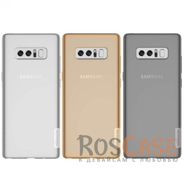 Мягкий прозрачный силиконовый чехол для Samsung Galaxy Note8Описание:бренд:&amp;nbsp;Nillkin;совместимость: Samsung Galaxy Note8;материал: термополиуретан;тип: накладка;ультратонкий дизайн;прозрачный корпус;не скользит в руках;защищает от механических повреждений.<br><br>Тип: Чехол<br>Бренд: Nillkin<br>Материал: TPU
