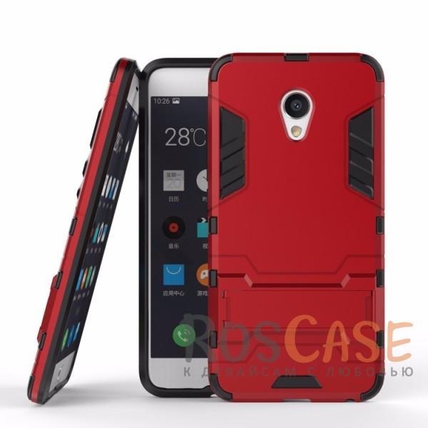 Ударопрочный чехол-подставка Transformer для Meizu MX6 с мощной защитой корпуса (Красный / Dante Red)Описание:подходит для Meizu MX6;материалы: термополиуретан, поликарбонат;формат: накладка.&amp;nbsp;Особенности:функциональные вырезы;функция подставки;двойная степень защиты;защита от механических повреждений;не скользит в руках.<br><br>Тип: Чехол<br>Бренд: Epik<br>Материал: TPU