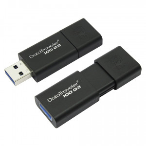 Флешка 32GB USB 3.0 Kingston DataTraveler 100 для iPad 2 / 3 / 4