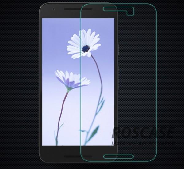 Защитное стекло Nillkin Anti-Explosion Glass Screen (H) для LG Google Nexus 5xОписание:производство компании Nillkin;создано для смартфона LG Google Nexus 5x;материал: закаленное стекло;форма: стекло на экран.Особенности:обеспечивает защиту экрана телефона от любых повреждений;поверхность гладкая;ударопрочные свойства;антибликовая поверхность;фиксация плотная;крепится на экран телефона;дизайн: ультратонкий, прозрачный.<br><br>Тип: Защитное стекло<br>Бренд: Nillkin
