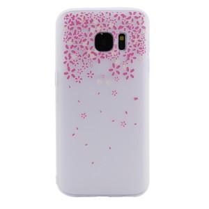 Силиконовый матовый чехол с принтом для Samsung G930F Galaxy S7