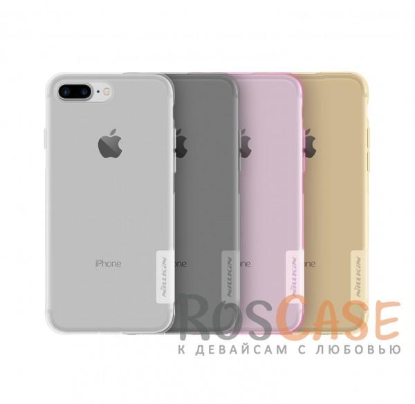 TPU чехол Nillkin Nature Series для Apple iPhone 7 plus (5.5)Описание:бренд&amp;nbsp;Nillkin;совместимость - Apple iPhone 7 plus (5.5);материал  -  термополиуретан;тип  -  накладка.&amp;nbsp;Особенности:в наличии все вырезы;не скользит в руках;тонкий дизайн;защита от ударов и царапин;прозрачный;заглушка на отверстие для зарядки.<br><br>Тип: Чехол<br>Бренд: Nillkin<br>Материал: TPU
