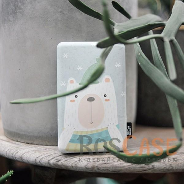 Дополнительный внешний аккумулятор со зверушками (Tomo T-2) 8000mAh (1 USB 1A) (Белый Мишка)<br><br>Тип: Внешний аккумулятор<br>Бренд: Epik