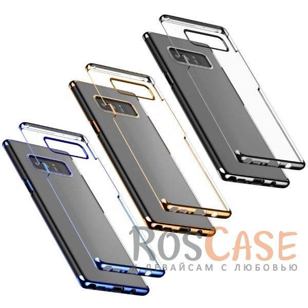 Ультратонкий прозрачный чехол с глянцевыми торцами Baseus Glitter для Samsung Galaxy Note 8Описание:бренд&amp;nbsp;Baseus;совместимость - Samsung Galaxy Note 8;материал - поликарбонат;глянцевая окантовка;прозрачный корпус;плотно облегает девайс;защита от ударов и царапин;предусмотрены все вырезы;на поверхности не заметны отпечатки.<br><br>Тип: Чехол<br>Бренд: Baseus<br>Материал: Пластик