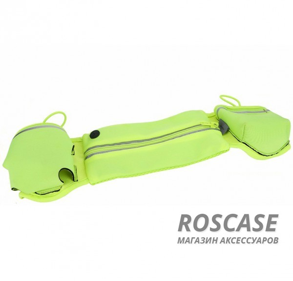 Спортивная сумка на пояс Rock Multifunctional Running (Зеленый / Green)Описание:производитель  - &amp;nbsp;Rock;совместимость  -  смартфоны с диагональю&amp;nbsp;до 6-ти дюймов;материал  -  полиэстер;форма  -  сумка на пояс.&amp;nbsp;Особенности:крепится на пояс;эластичная резинка;застегивается на молнию;материал обладает влагоотталкивающими свойствами;разъем для наушников;карман для бутылки;подходит для гаджетов с диагональю до 6-ти дюймов;можно носить в сумке кредитки, ключи и другие мелочи.<br><br>Тип: Чехол<br>Бренд: ROCK<br>Материал: Неопрен