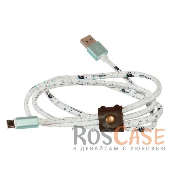Фотография Зайчик Дата кабель USB to MicroUSB (в подарочной упаковке)