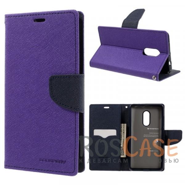 Чехол (книжка) Mercury Fancy Diary series для Xiaomi Redmi Note 4 (Фиолетовый / Синий)Описание:бренд&amp;nbsp;Mercury;создан для Xiaomi Redmi Note 4;материалы  -  искусственная кожа, термополиуретан;форма  -  чехол-книжка.&amp;nbsp;Особенности:фактурная поверхность;все функциональные вырезы в наличии;внутренние кармашки;магнитная застежка;защита от механических повреждений;трансформируется в подставку.<br><br>Тип: Чехол<br>Бренд: Mercury<br>Материал: Искусственная кожа