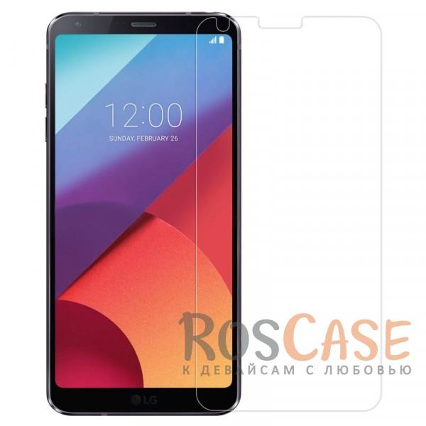 Прозрачная глянцевая защитная пленка на экран с гладким пылеотталкивающим покрытием для LG G6 / G6 Plus H870 / H870DSОписание:бренд&amp;nbsp;Nillkin;совместимость - LG G6 / G6 Plus H870 / H870DS;материал: полимер;тип: прозрачная пленка;ультратонкая;защита от царапин и потертостей;фильтрует УФ-излучение;размер пленки - 145*68 мм.<br><br>Тип: Защитная пленка<br>Бренд: Nillkin