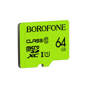 Карта памяти Borofone 64GB microSD Card Class 10 для Huawei Y9 (2019) / Enjoy 9 Plus