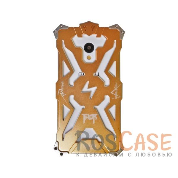Противоударный чехол из авиационного алюминия на винтах Thor для Meizu M3 / M3 mini / M3s (Золотой)<br><br>Тип: Чехол<br>Бренд: Epik<br>Материал: Металл