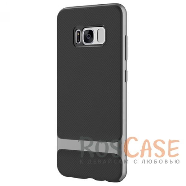 Двухслойный чехол Rock Royce для Samsung G955 Galaxy S8 Plus (Черный / Серый)Описание:производитель -&amp;nbsp;Rock;совместим с Samsung G955 Galaxy S8 Plus;материалы - термополиуретан, поликарбонат;двухслойная конструкция;защищает от ударов;на накладке не заметны отпечатки пальцев;дублирующие клавиши защищают кнопки;защита камеры от царапин.<br><br>Тип: Чехол<br>Бренд: ROCK<br>Материал: TPU
