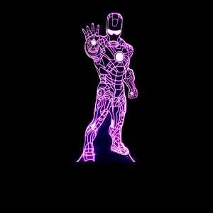 """Светодиодный 3D светильник-ночник с проекцией объемного изображения """"Железный человек"""""""