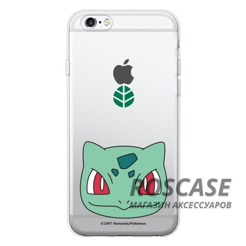 Прозрачный силиконовый чехол Pokemon Go для Apple iPhone 6/6s (4.7) (Bulbasaur / face)Описание:бренд:&amp;nbsp;Epik;совместимость: Apple iPhone 6/6s (4.7);материал: силикон;тип: накладка.&amp;nbsp;Особенности:принт с покемонами;не скользит в руках;эластичный и гибкий;плотно прилегает;в наличии все функциональные вырезы.<br><br>Тип: Чехол<br>Бренд: Epik<br>Материал: TPU