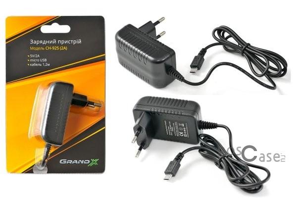 фото сетевое ЗУ Grand-X USB 5V 2A (1,2м microUSB) (CH-925)