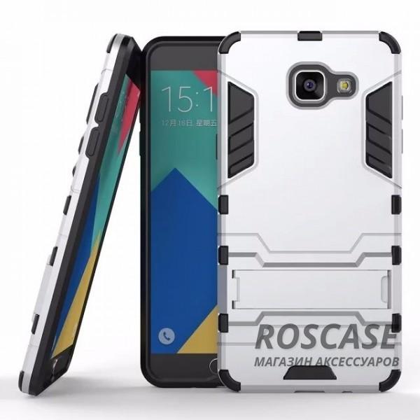 Ударопрочный чехол-подставка Transformer для Samsung A510F Galaxy A5 (2016) с мощной защитой корпуса (Серебряный / Satin Silver)Описание:форм-фактор  -  накладка;совмещение с Samsung A510 F Galaxy A5 (2016);материалы  -  термополиуретан, поликарбонат.Особенности:легкая фиксация;ударопрочный;функция подставки;имеет необходимые вырезы;легко и быстро очищается от загрязнений.<br><br>Тип: Чехол<br>Бренд: Epik<br>Материал: TPU