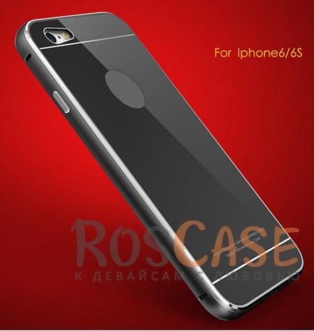 Металлический бампер Luphie с акриловой вставкой для Apple iPhone 6/6s (4.7) (Черный / Черный)Описание:бренд -&amp;nbsp;Luphie;материал - алюминий, акриловое стекло;совместим с Apple iPhone 6/6s (4.7);тип - бампер со вставкой.Особенности:акриловая вставка;прочный алюминиевый бампер;в наличии все вырезы;ультратонкий дизайн;защита устройства от ударов и царапин.<br><br>Тип: Чехол<br>Бренд: Luphie<br>Материал: Металл