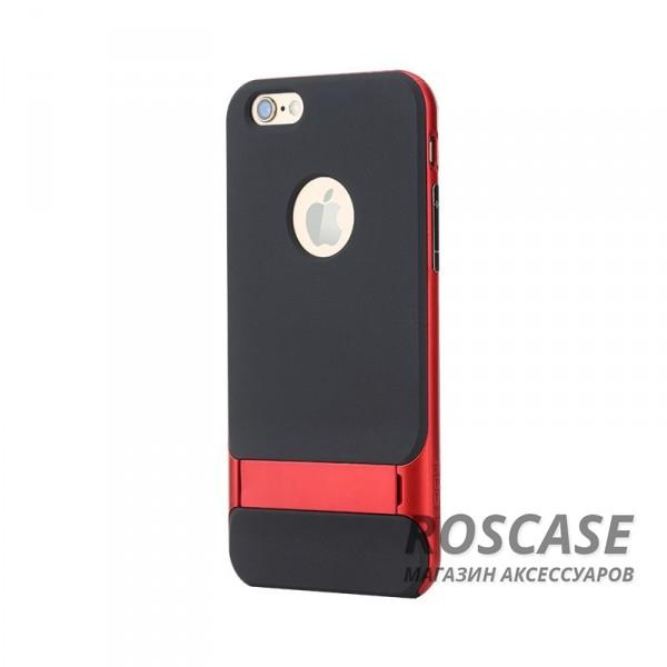 TPU+PC чехол Rock Royce Series с функцией подставки для Apple iPhone 6/6s (4.7) (Красный / Red)Описание:изготовитель: компания Rock;совместимость: смартфоны Apple iPhone 6/6s;произведен из термопластичного полиуретана и качественного поликарбоната;тип крепления: накладка;поверхность: частично матовая, частично глянцевая.Особенности:защищает от повреждений при падениях;имеет двойную конструкцию;имеет функцию подставки;позиционируется как аксессуар с интересным нетривиальным дизайном.<br><br>Тип: Чехол<br>Бренд: ROCK<br>Материал: TPU