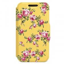 """Универсальный женский чехол-книжка с розами Gresso """"Romantic"""" для смартфона 4.5-4.8 дюйма"""