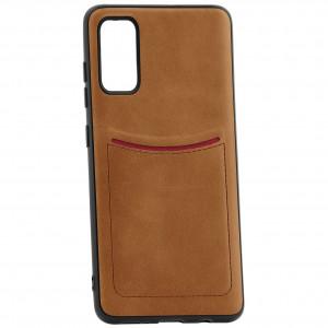 iLevel | Чехол с кожаным покрытием и карманом  для Samsung Galaxy S20