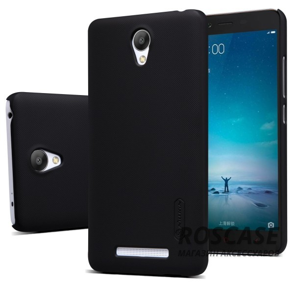 Фото Черный Матовый чехол Nillkin Super Frosted Shield для Xiaomi Redmi Note 2 / Redmi Note 2 Prime (+ пленка)