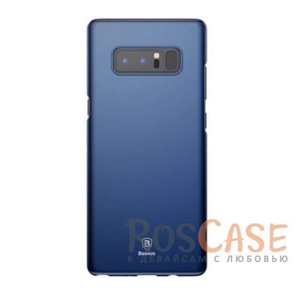 Стильный пластиковый ультратонкий чехол Baseus Thin с защитой камеры для Samsung Galaxy Note 8 (Синий)Описание:компания -&amp;nbsp;Baseus;материал - пластик;совместимость - Samsung Galaxy Note 8;защитные бортики вокруг камеры;на чехле не заметны отпечатки пальцев;предусмотрены все необходимые вырезы;защищает заднюю панель и грани;формат - накладка;дублирующие защитные кнопки;тонкий дизайн.<br><br>Тип: Чехол<br>Бренд: Baseus<br>Материал: Пластик