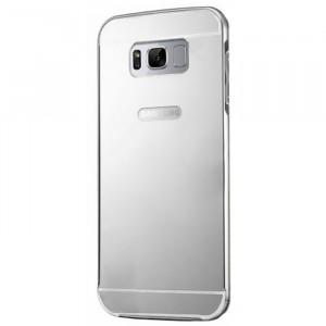 Металлический бампер для Samsung G955 Galaxy S8 Plus с зеркальной вставкой