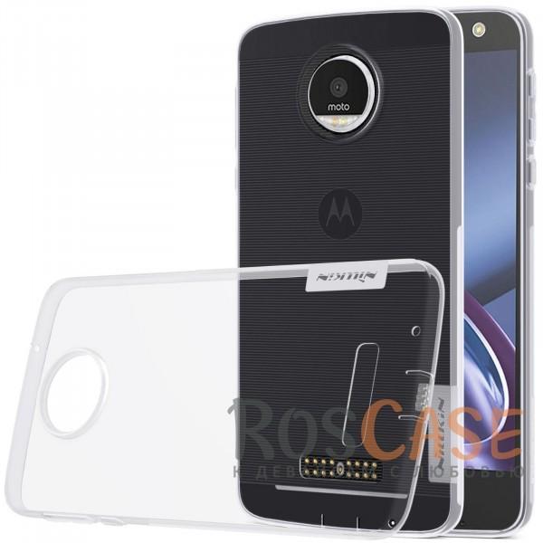 TPU чехол Nillkin Nature Series для Motorola Moto Z (XT1650) (Бесцветный (прозрачный))<br><br>Тип: Чехол<br>Бренд: Nillkin<br>Материал: TPU