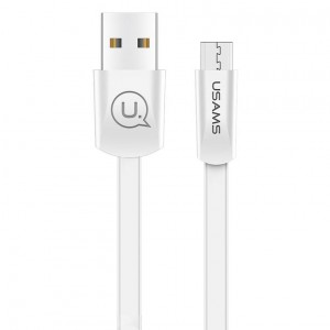 USAMS US-SJ201 | Плоский дата кабель USB to MicroUSB (120 см) для Samsung Galaxy S8 Plus (G955)