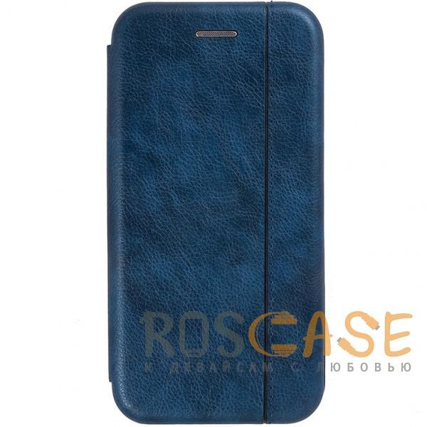 Open Color 2 | Чехол-книжка на магните для Huawei Honor 8X с подставкой и внутренним карманом (Темно-синий )