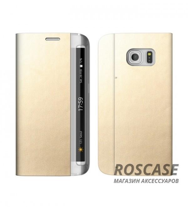 Кожаный чехол Zenus Masstige Diana Diary для Samsung G935F Galaxy S7 Edge (Золотой)Описание:производитель  - &amp;nbsp;Zenus;совместим с&amp;nbsp;Samsung G935F Galaxy S7 Edge;материал  -  искусственная кожа, поликарбонат;форма  -  чехол-книжка.&amp;nbsp;Особенности:стильный дизайн;пластиковая вставка в обложке;окошко для вызова функций;кармашек для визиток;в наличии все функциональные вырезы;не скользит в руках;тонкий дизайн;защищает от ударов и царапин.<br><br>Тип: Чехол<br>Бренд: Zenus<br>Материал: Искусственная кожа
