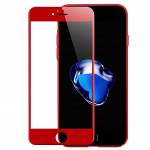 Глянцевое стекло с цветной рамкой CaseGuru 3D с полной защитой выпуклого экрана для Apple iPhone 8
