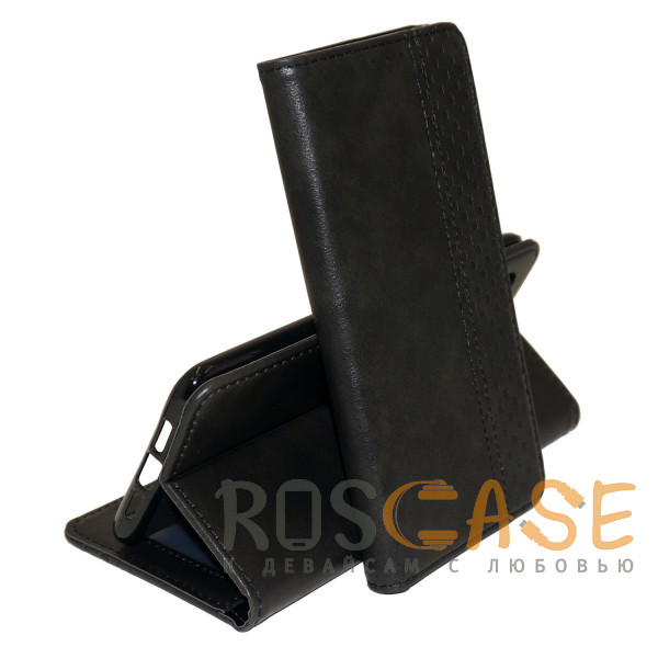 Фото Черный Business Wallet   Кожаный чехол книжка с визитницей для Samsung Galaxy M31