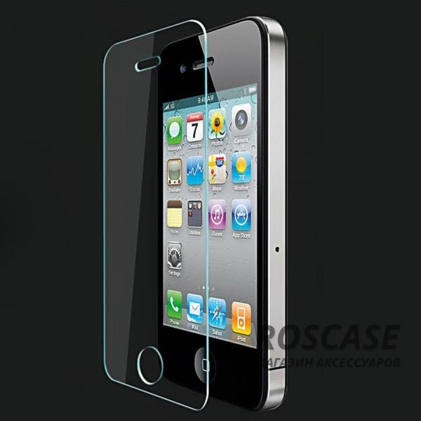 Защитное стекло 0.26мм 2.5D для Apple iPhone 4/4SОписание:бренд-производитель:&amp;nbsp;Epik;совместимость: Apple iPhone 4/4S;материал: закаленное стекло;тип: стекло.&amp;nbsp;Особенности:имеются все функциональные вырезы;твердость 8-9H;закругленные края;не влияет на чувствительность сенсора;легко очищается;толщина - &amp;nbsp;0,26 мм;устойчиво к ударам, царапинам.<br><br>Тип: Защитное стекло<br>Бренд: Epik