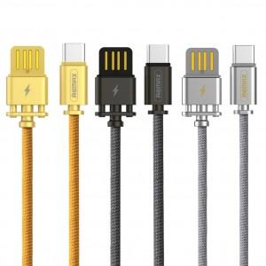 Remax RC-064a | Дата кабель в тканевой оплетке и металлическим разъёмом USB to Type-C (100см)