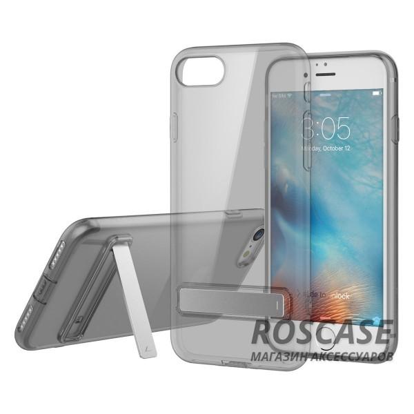 Прозрачный ультратонкий силиконовый чехол ROCK Slim Jacket с функцией подставки для Apple iPhone 7 / 8 (4.7) (Черный / Transparent black)Описание:бренд: Rock;совместим с Apple iPhone 7 / 8 (4.7);материал: термопластичный полиуретан;форма чехла: накладка.&amp;nbsp;Особенности:все функциональные вырезы предусмотрены;тонкий;прозрачный;защита от царапин и ударов;функция подставки;идеально прилегает.<br><br>Тип: Чехол<br>Бренд: ROCK<br>Материал: TPU