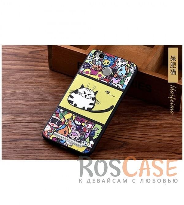 TPU чехол с принтом Cats story tales для Xiaomi Redmi 3 Pro / Redmi 3s (Желтый)<br><br>Тип: Чехол<br>Бренд: Epik<br>Материал: TPU