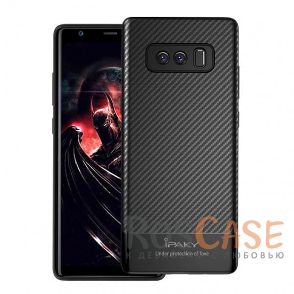 Ультратонкий чехол-накладка iPaky (original) Musy с карбоновым покрытием и защитными бортиками для Samsung Galaxy Note 8 (Черный)Описание:бренд -&amp;nbsp;iPaky;совместимость -&amp;nbsp;Samsung Galaxy Note 8;тип - накладка;материалы - TPU, карбоновое покрытие;не заметны отпечатки пальцев;защита от царапин, сколов, трещин;ультратонкий дизайн;завышенные бортики вокруг камеры;защита клавиш;все необходимые функциональные вырезы.&amp;nbsp;<br><br>Тип: Чехол<br>Бренд: iPaky<br>Материал: Пластик