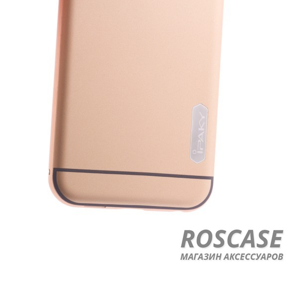 фото Золотой Чехол iPaky Metal Frame Series для Apple iPhone 6/6s (4.7