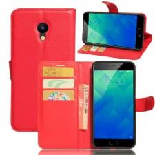 Wallet | Кожаный чехол-кошелек с внутренними карманами для Meizu M5