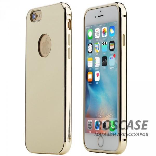 Алюминиевая накладка Rock Infinite Series (Mirror) для Apple iPhone 6/6s plus (5.5) (Золотой / Gold)Описание:компания производитель:&amp;nbsp;Rock;точное соответствие с Apple iPhone 6/6s plus (5.5);изготовление: металл в сочетании с акрилом;вид изделия: накладка.Особенности:великолепное сочетание прочных материалов;большая палитра оттенков;стиль и красота;не выпадает из рук.<br><br>Тип: Чехол<br>Бренд: ROCK<br>Материал: Металл