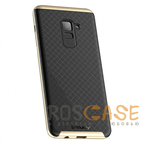 Фотография Черный / Золотой iPaky Hybrid | Противоударный чехол для Samsung A730 Galaxy A8+ (2018)