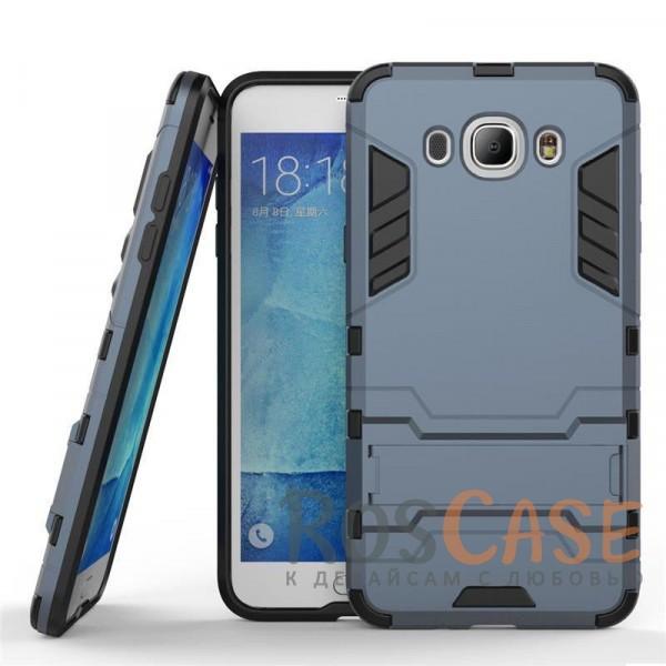Ударопрочный чехол-подставка Transformer для Samsung J710F Galaxy J7 (2016) с мощной защитой корпуса (Серый / Metal slate)Описание:подходит для Samsung J710F Galaxy J7 (2016);материалы: термополиуретан, поликарбонат;формат: накладка.&amp;nbsp;Особенности:функциональные вырезы;функция подставки;двойная степень защиты;защита от механических повреждений;не скользит в руках.<br><br>Тип: Чехол<br>Бренд: Epik<br>Материал: TPU