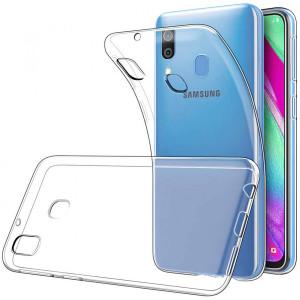 Прозрачный силиконовый чехол для Samsung Galaxy A40
