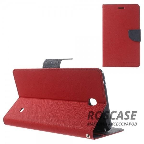 Чехол (книжка) Mercury Fancy Diary series для Samsung Galaxy Tab 4 7.0 (Красный / Синий)Описание:производитель  -  бренд&amp;nbsp;Mercury;совместим с Samsung Galaxy Tab 4 7.0;материалы  -  искусственная кожа, термополиуретан;форма  -  чехол-книжка.&amp;nbsp;Особенности:рельефная поверхность;все функциональные вырезы в наличии;внутренние кармашки;магнитная застежка;защита от механических повреждений;трансформируется в подставку.<br><br>Тип: Чехол<br>Бренд: Mercury<br>Материал: Искусственная кожа